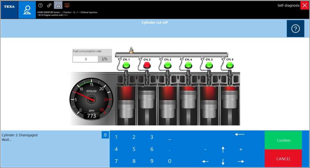 New Cylinder Cutout Test Dashboard