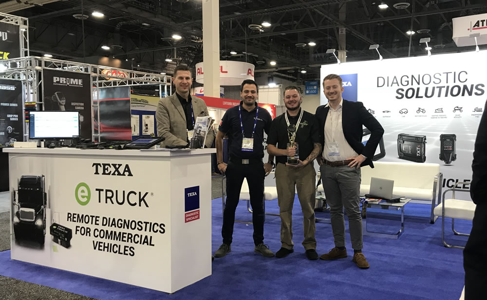 The TEXA North America Team at the 2018 AAPEX Show in Las Vegas